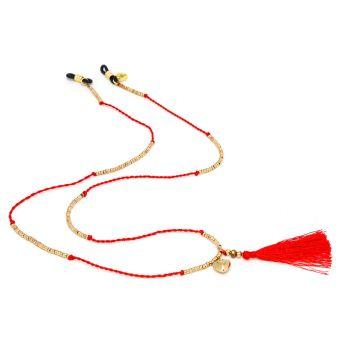 Sunny Cords Red Sunglass Chain - Mc Tassel